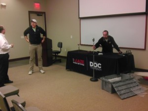 Doc and Skip setting up their broadcast location in Omaha, NE